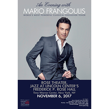 An Evening with Mario Frangoulis with Special guest Frances Ruffelle  @ New York