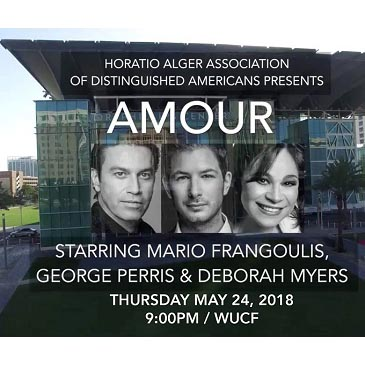 "Mario Frangoulis announce the release of the new PBS special ""Amour - 3 Voices from Broadway to the Stars"""